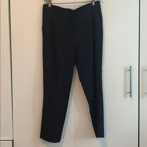 Navy Blue Ankle-length Pants